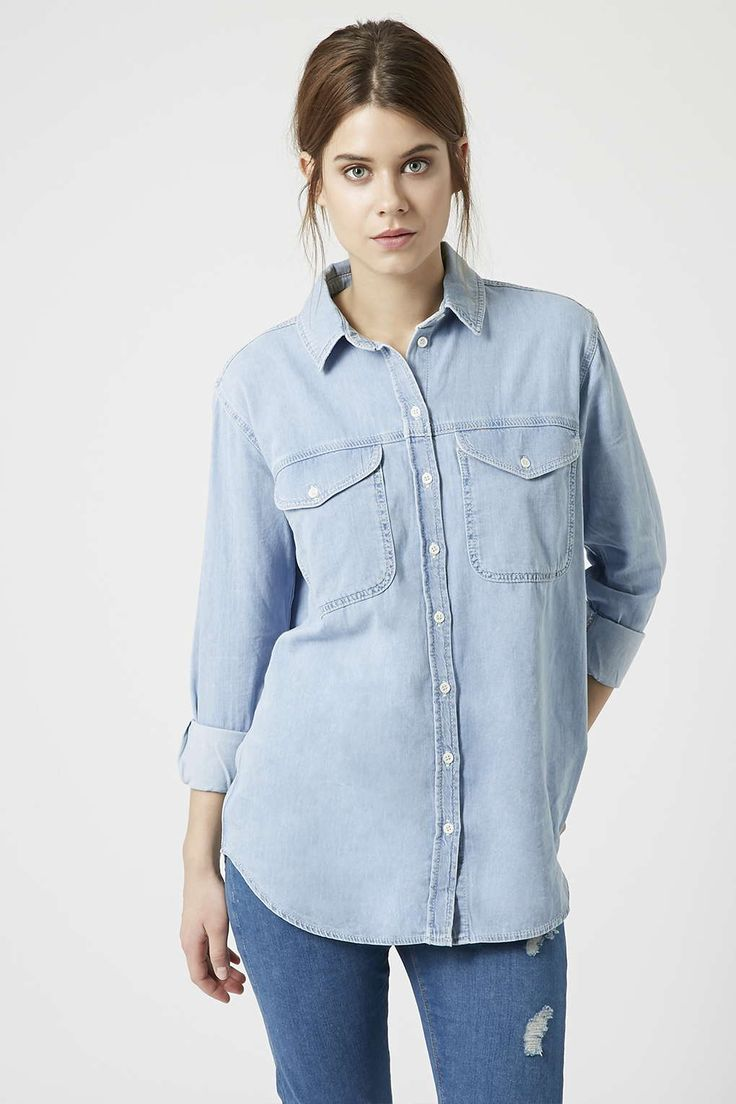 MOTO Oversized Denim Shirt - Topshop