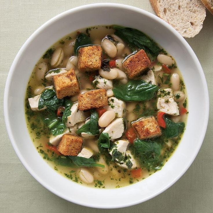 Chicken & Spinach Soup with Fresh Pesto Recipe - EatingWell.com