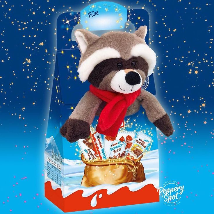 Kinder Maxi Mix Christmas Chocolate Selection with Plush Racoon  Buy online on pepperyspot.com