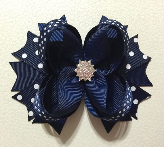 Hey, I found this really awesome Etsy listing at https://www.etsy.com/listing/265874619/navy-blue-boutique-hair-bows-baby-girl