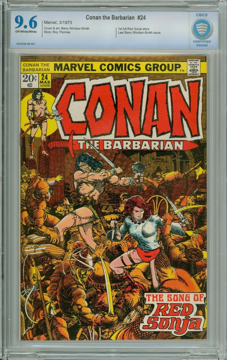 Marvel - Conan the Barbarian #24 (1973) - 1st Full Red Sonja Story - CBCS 9.6