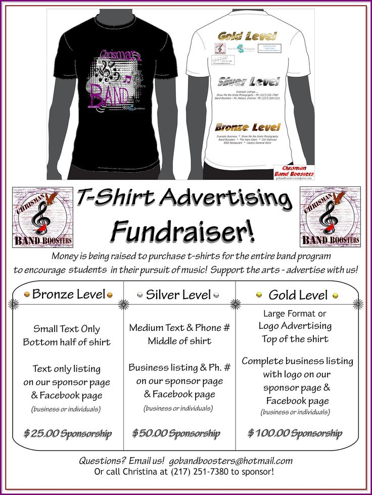 Idea For Our Sponsor T Shirt Fundraiser T Shirt