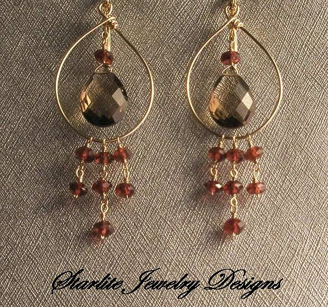 Handmade Jewelry | Starlite Jewelry Designs ~ Briolette Earrings ~ Handmade  Jewelry .