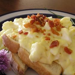 ~♥~ Creamed Eggs on Toast...just like mom use to make. Read the reviews to give you ideas for your own seasonings.