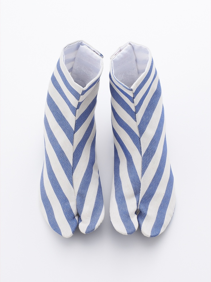 足袋 ボーダー | DOUBLE MAISON: Sock, Double Maison, Japan Tabi Traditional, 足袋 Stripes, 足袋 ボーダー, Japan Style, Japanese Style, Tabi Stripes, Stripes Tabi Hana