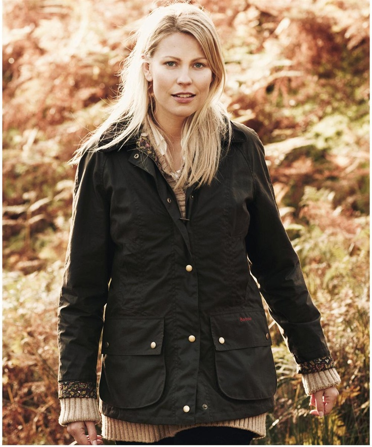 Womens Barbour Liberty Beadnell Waxed Jacket Olive