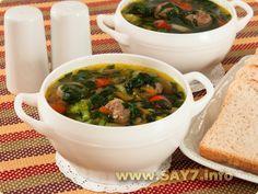 ✓ Суп с фрикадельками и шпинатом