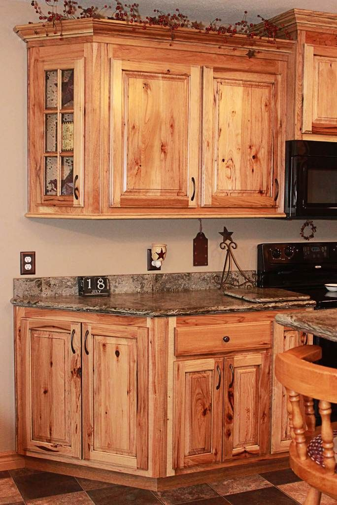 Kitchen: Contemporary Cleaning Hickory Kitchen Cabinets