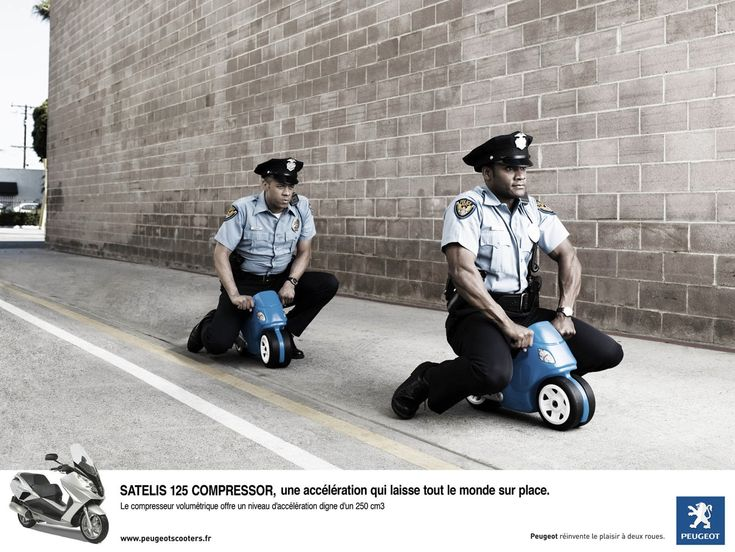 Peugeot scooter: The cops