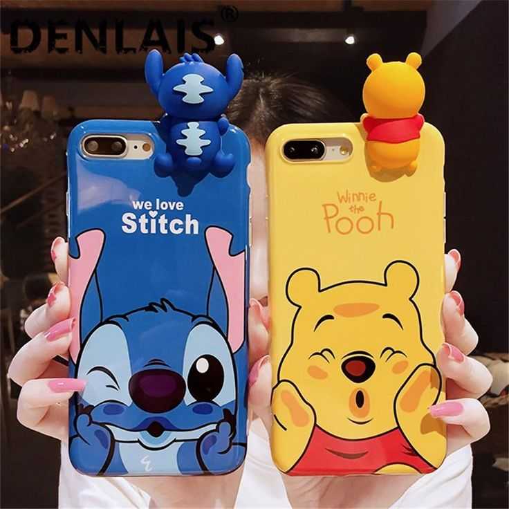 Cute 3D Stitch Winnie Case for iPhone 6-X