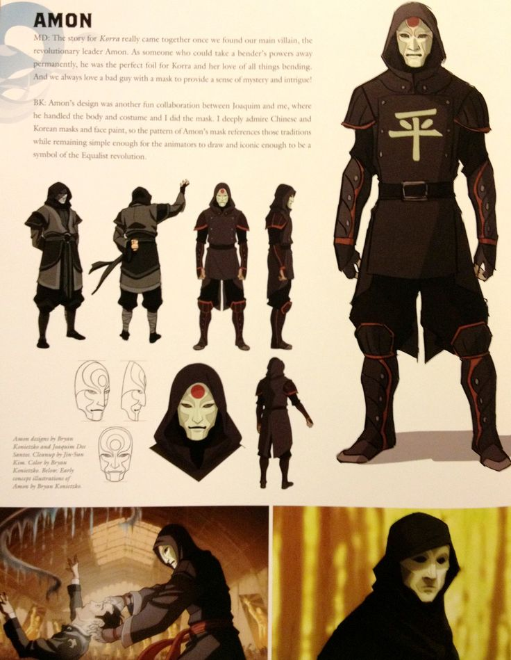 korra-naga:  MD: The story for Korra really came together once we found our main villain, the revolutionary leader Amon. As someone who coul...