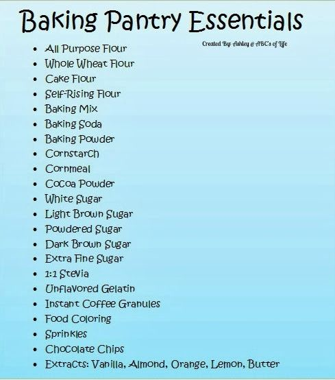 The ABC's of Life: Perfect Pantry Organization: Baking Supplies with FREE labels!