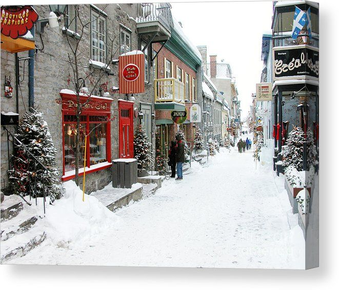 Quebec City In Winter Canvas Print Canvas Art By Thomas R Fletcher In 2020 Quebec City Quebec City Winter Canada City