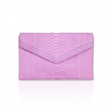 MIAMI  Slither into style this season with this envelope phyton clutch. Remaining chic and elegant, this clutch will add a pop of color to any outfit. With inside pocket. Designed for a naturally stylish clientele for whom the handbag is not merely an accessory but a projection and confirmation of her own image