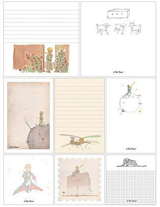 The Little Prince Sticky Notes 320 assorted sticky notes 8 designs in 3 sizes