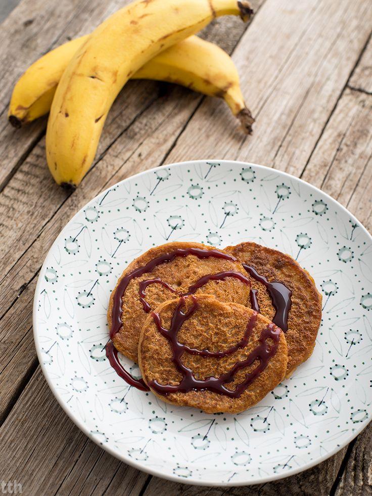 Placuszki z kaszy jaglanej z bananem wegańskie, bezglutenowe, bez cukru