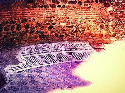 mosaic @ Galerious' `palace