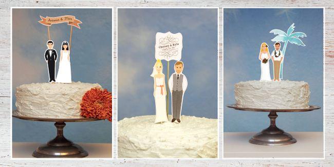 Eure Frisur, euer Kleid und euer Brautstrauss: individuelle Caketopper!