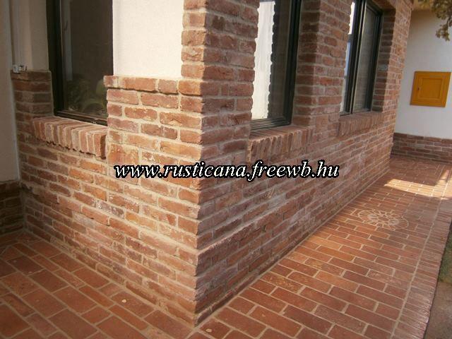 tégla járda és falburkolat - brick floor and wall