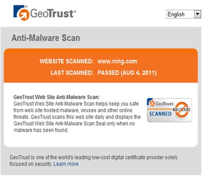 GeoTrust Website Anti-Malware Scanning Scans Your Website Every 24 hours For Malware.