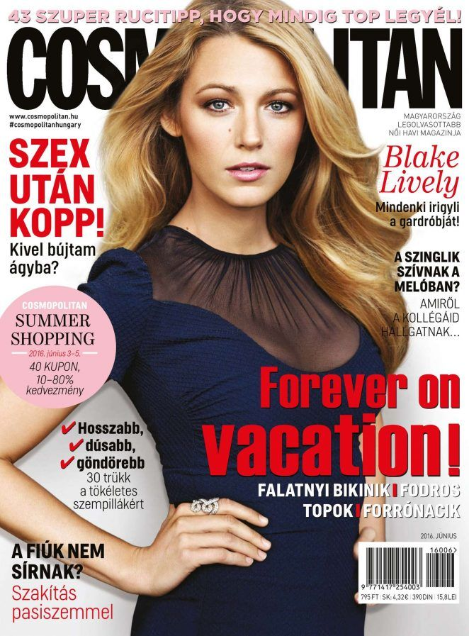Blake Lively for Cosmopolitan Hungary June 2016