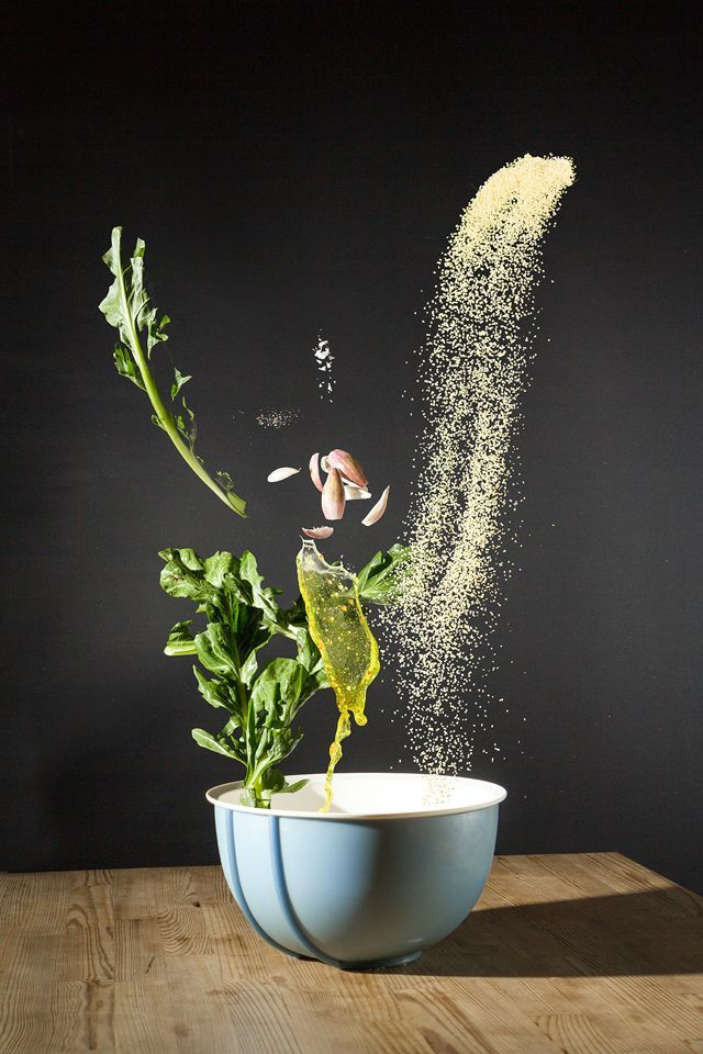As a food blogger, I always admire creative food photography. When I saw this series called Recipes by German artist Nora Luther and Pavel Pecker, I was blown away. These dynamic photos bring food to life on a whole new level. The photos show the ingredients and how the dish is put together,