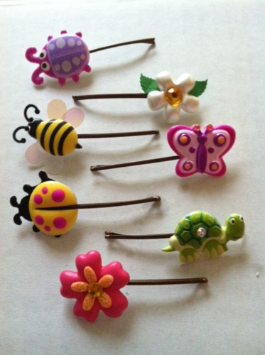 clay hair pins for kids