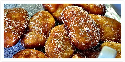 Cape Malay Koeksisters (spiced doughnuts)