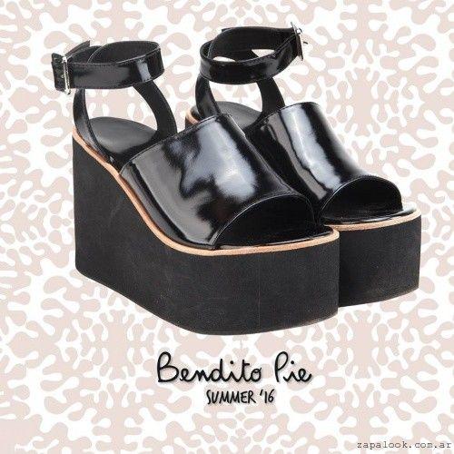 Sandalias con plataformas negras - Calzados Bendito Pie verano 2016