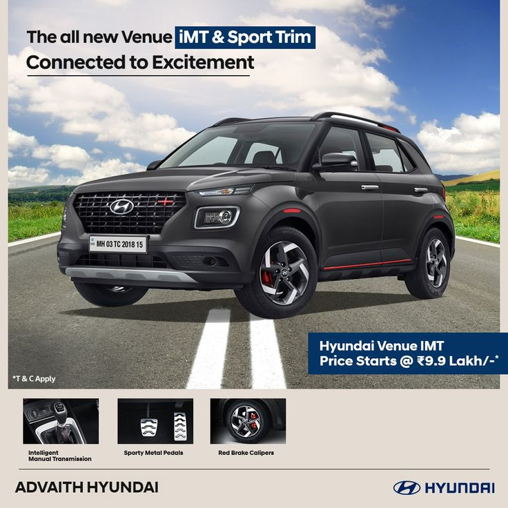 The all new Venue iMT & Sport Trim in 2020 Hyundai