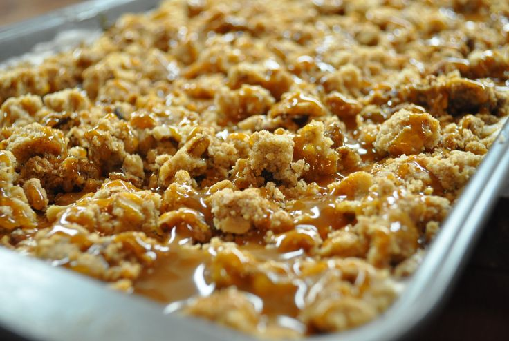 Butter Brickle - i would substitute out the oats and/or pecans for heath bar.