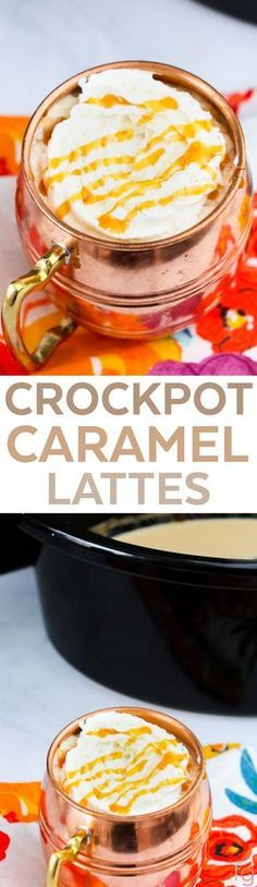 Crockpot Caramel Latte - Crock Pot Latte Recipes - Crockpot Latte - Slow Cooker Drink Recipes - Slow Cooker Recipes - Crockpot Recipes - Homemade Starbucks Recipes - Brunch Ideas - Brunch Recipes