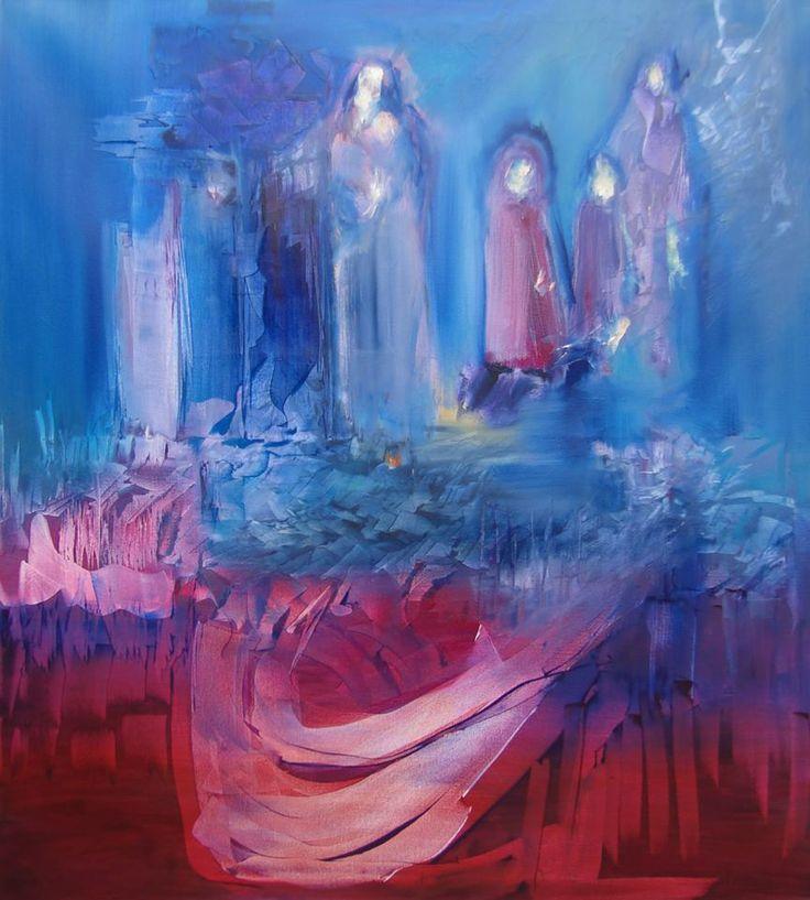 """""""Silencio"""" - Monica Medina - Oleo sobre tela - 100 x 90 cm www.esencialismo.com"""