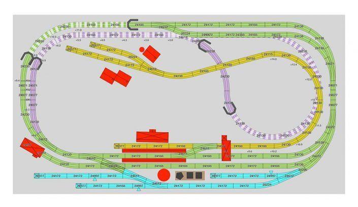 H0 Gleisplan Fur Das C Gleis Viel Betrieb Auf 3 6 Qm Mit Drei Bahnhofen Marklin Gleisplan Gleise Modelleisenbahn