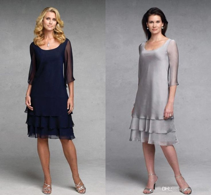 Never miss the chance to get the best mother and daughter dresses,mother of the bride dresses canadaand mother of the bride dresses nz on DHgate.com. The cheap 2016 cheap knee length mother bride dresses sexy scoop neck 3/4 long sleeve silver a line tiered chiffon navy blue mothers dress is for sale in eiffelbride and buy it now!