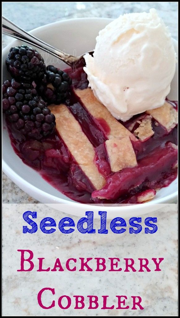 Seedless Blackberry Cobbler   nestfullofnew.com