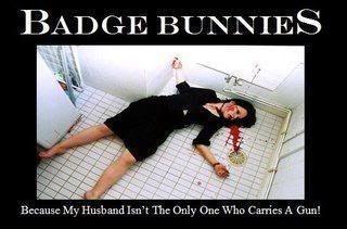 Badge bunny, stay away....