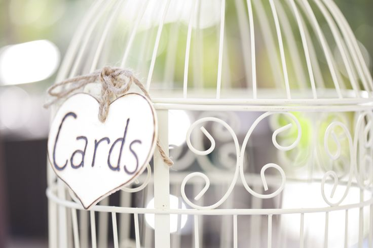 A bird cage is always a great card holder!