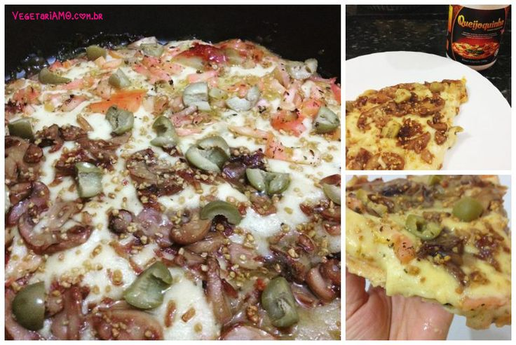 Pizza vegana com Queijoquinha