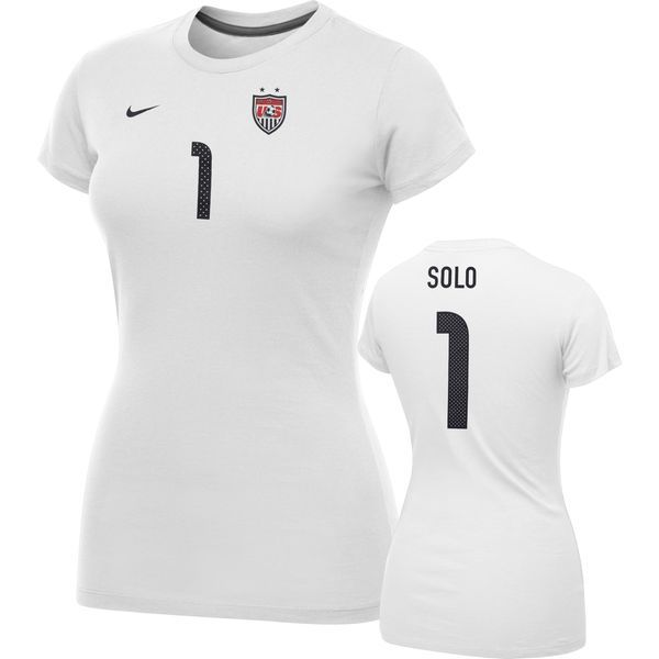 Nike Hope Solo United States Soccer White Name and Number Hero Women's T-Shirt - $29.99