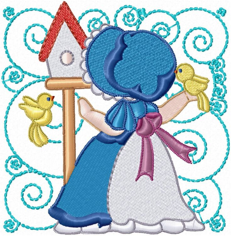 sunbonnet sue embroidery patterns | FREE MACHINE EMBROIDERY SUNBONNET SUE - EMBROIDERY DESIGNS