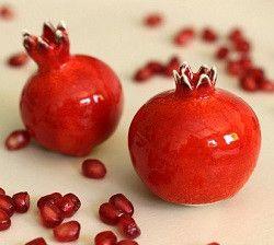 Ceramic Pomegranates from TzadSheni