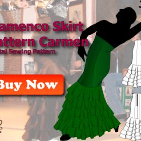 flamenco skirt pattern