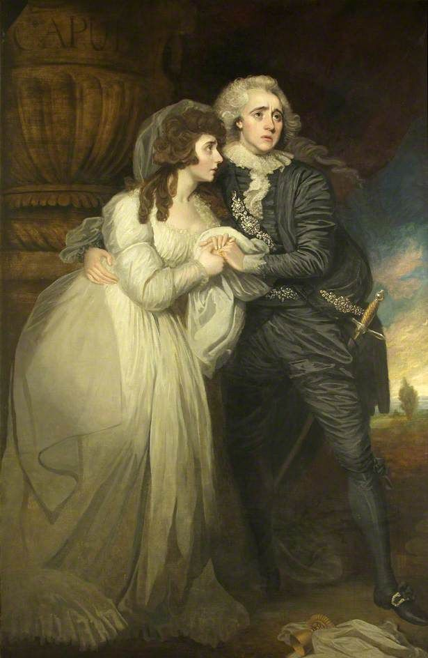 Anne Brunton (1769-1808) and Joseph Holman (1764–1817) in 'Romeo and Juliet'  by Mather Brown