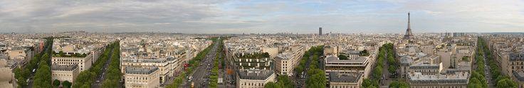 Visão panorâmica de Paris, capital da França.  – Wikipédia, a enciclopédia livre.