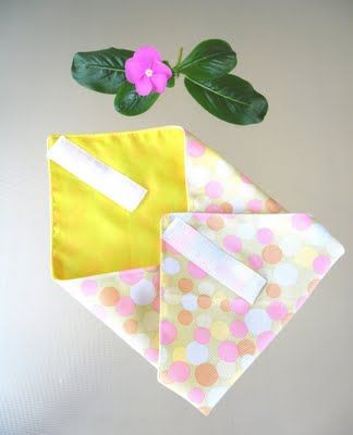 Fabric lunch wrap... good for the environment, easier to tell who's sarnies are who'e (especially as SOME of my kids are super picky about butter and sandwhich fillers!)... and fun! Great for a picnic!