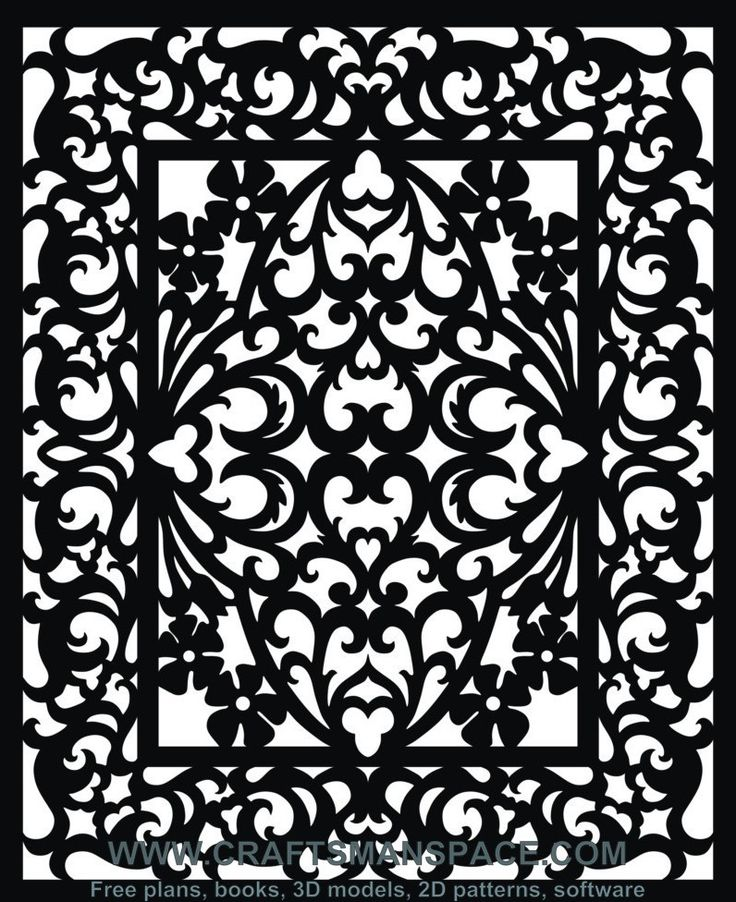 Scroll saw and fretwork vector patterns free patterns