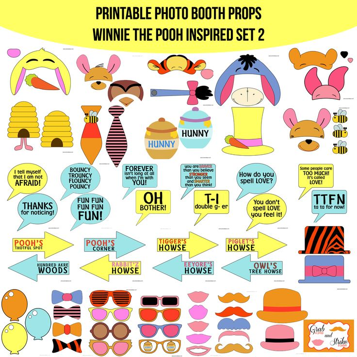 Photo booth props winnie the pooh and friends by scrapstoremember photo booth props winnie the pooh and friends by scrapstoremember pooh bear birthday party ideas pinterest photo booth birthdays and babies voltagebd Gallery