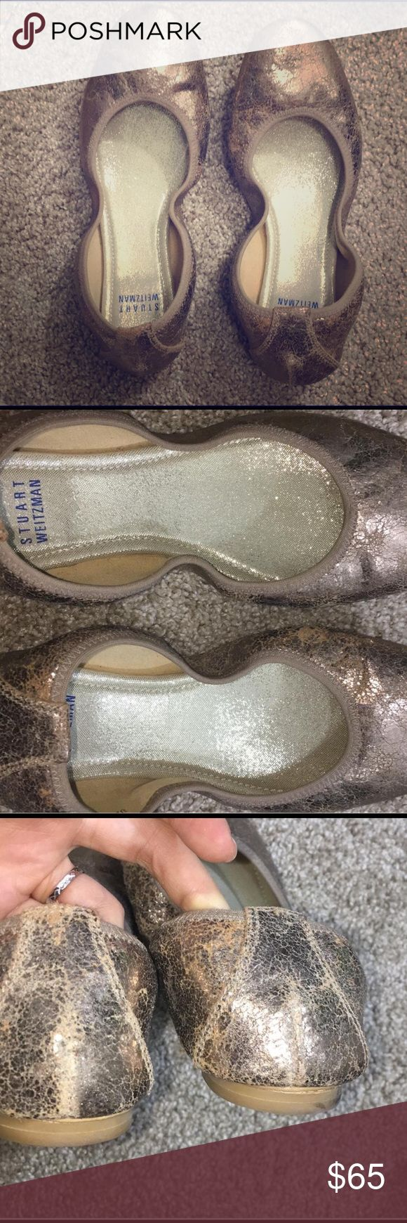 Stuart Wiseman Rose Gold ballet flat Only worn once. Size 5.5 . true to size Shoes Flats & Loafers