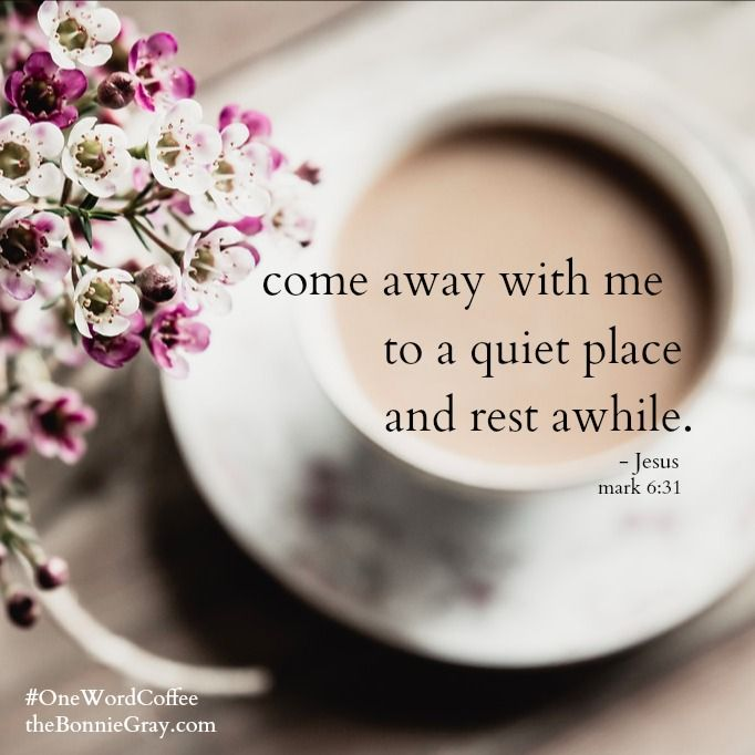 """Come away with me by yourselves to a quiet place and rest awhile"" Mark 6:31  These are the words Jesus spoke to the disciples on a day it was so busy, the Scriptures tell us they didn't have time to eat.  As the new year begins, it's very easy to get pulled away by busyness"